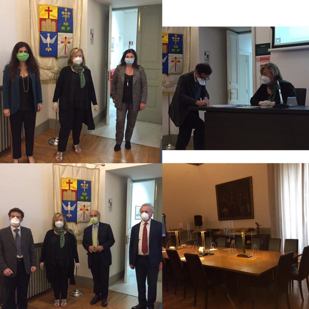 Sottoscrizione protocollo Fondazione Banco Napoli/Coa Napoli Occ: insieme per ripartire